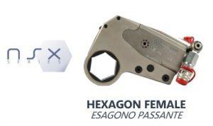 Chiave Idraulica Dinamometrica con Esagono Passante